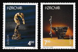 Faroe Is. Contemporary Art Europa CEPT issue 1993 2v SG#241-242 SC#252-253