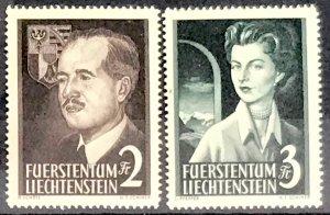Liechtenstein #287-288 MNH CV$140.00 Franz Joseph II Georgina [76889]