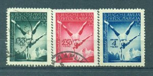 Yugoslavia  sc# B142-144 used cat value $12.00