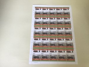 Nevis D.R.G. Class 64 Railway Locomotive Train MNH full  stamps sheet 49531