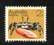 Fiddler Crab, Australia stamp SC#555 used