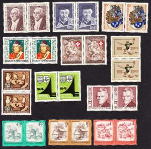Austria Collection 1976-79 in pairs SG#1682-1845 CV£40+