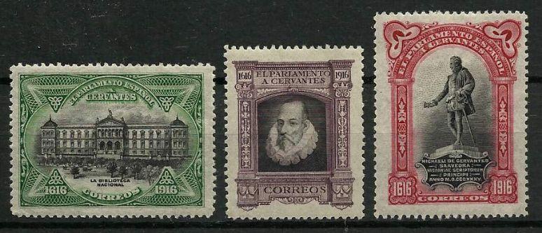 Spain Stamps El Parlamento A Cervantes 1616 1916 MNH RV428
