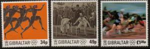 GIBRALTAR SG776/8 CENT OF MODERN OLYMPIC GAMES MNH