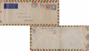 Ireland 10d Celtic Cross and 5d Sword of Light 1945 Baile Atha Cliath Airmail...
