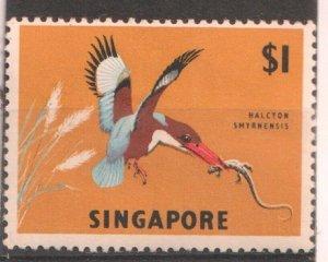 1962 SINGAPORE -  SG:75 -  BIRDS - KINGFISHER  - MNH