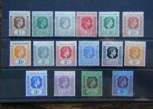 Leeward Islands 1938 - 1951 values to 2s MM