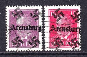 ESTONIA  ARENSBURG OVERPRINTS CDS F/VF TO VF SOUND