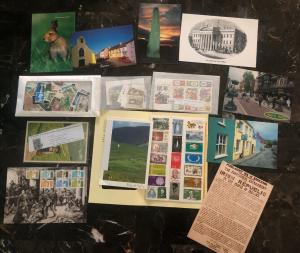 Great Ireland Stamp & Postcard Collection Lot MXE