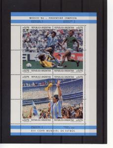 Argentina Scott 1569/70 1986 World Cup Shlt(2) MNH VF