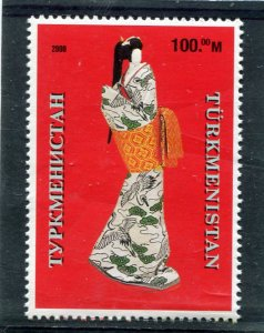Turkmenistan 2000 JAPANESE PAPER DOLL 1 value Perforated Mint (NH)