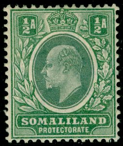 SOMALILAND PROTECTORATE SG45, ½a dull green & green, M MINT.