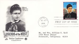 1994, Legends of the West-Nellie Cashman, Artcraft/PCS, FDC (E9213)