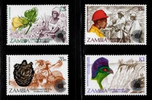 Zambia Scott 276-279 MNH** stamp set