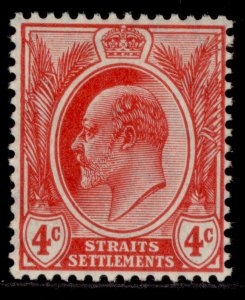 MALAYSIA - Straits Settlements EDVII SG154, 4c red, M MINT.