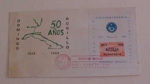 CUBA   FDC SHEETLET 17 MAY 1963 CACHET UNADDRESSED