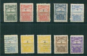 El Salvador 1915-1916 Unissued S Lot BIN = $2.00