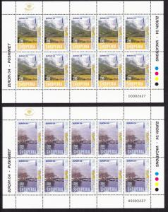 Albania Europa CEPT Holidays 2 Sheetlets SG#2992-2993 MI#2966-2967 KB CV£120+