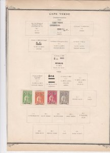 cape verde stamps on album page ref r11488