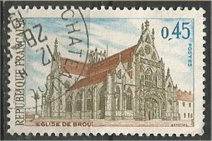 FRANCE, 1969 used 45c, Church of Brou Scott 1232