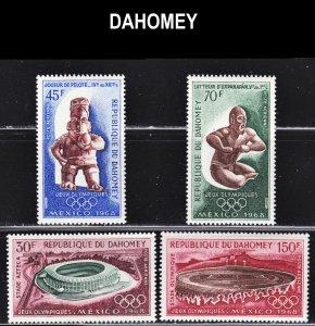 Dahomey Scott C85-88 F to VF mint OG NH.