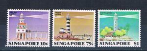 Singapore 397-99 MNH set Lighthouse 1982 (S1140)