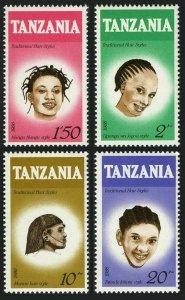 Tanzania 346-349,MNH.Michel 386-389. Hair styles 1987.