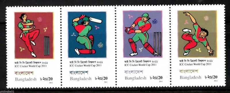 Bangladesh 2011 ICC Cricket World Cup Sport Painting 4v MNH # 5369