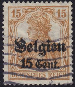 Belgium German Occupation - 1916 - Scott #N15 - used