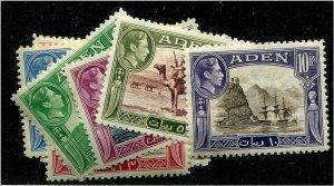 HERRICKSTAMP ADEN Sc.# 16-27 KG VI Mint LH