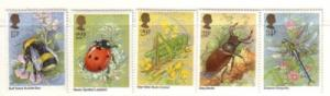 Great Britain Sc 1098-02 1985 Insects stamp set mint NH
