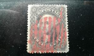 US #36 used red cancel thin e194.4095