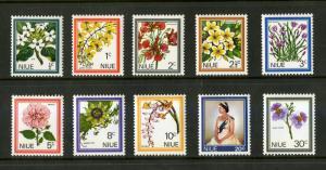 Niue 122-131 MNH SCV $3.75 BIN $2.00 FLOWERS
