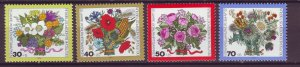 J24943 JLstamps 1974 germany berlin set mnh #9nb110-3 flowers