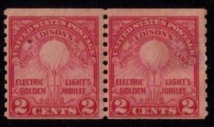 US Sc 656 MH Coil Edison' Lamp Fine Vert.Pair Cat. $25.00