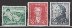 Germany - 1949 Goethe Sc# B306/B308 - MH (7067)