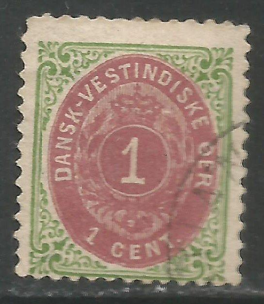 DANISH WEST INDIES 16 VFU V562
