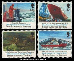 British Antarctic Territory Scott 184-191 Mint never hinged.