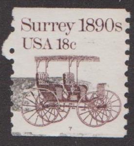 US #1907 Surrey Used PNC Single plate #7
