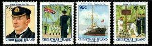 CHRISTMAS ISLAND SG251/4 1988 CENTENARY OF BRITISH ANNEXATION FINE USED