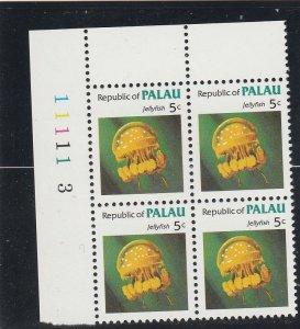 Palau  Scott#  11  MNH Block of 4  (1983 Jellyfish)