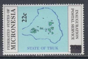 Micronesia 49 Map MNH VF