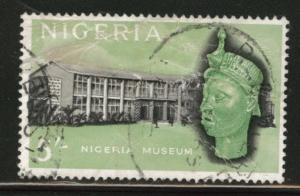 Nigeria Scott 111 used 1965 5 Shilling stamp CV$1.25