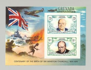 Grenada Grenadines #31, 1974 Churchill, World War II 1v. proof s/s