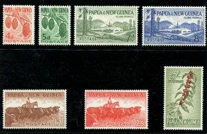 Papua New Guinea 1963 QEII Definitive set complete superb MNH. SG 18-24.