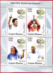 A0755 - GUINEA-BISSAU - ERROR  MISSPERF SHEET - SPORT: Football WORLD CUP 2006