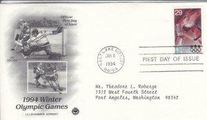 1994, Winter Olympic Games-Ice Hockey, PCS, FDC (D15475)