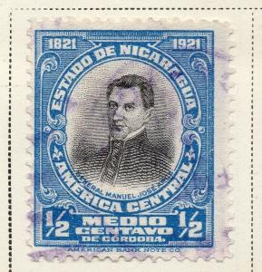 Nicaragua 1921 Early Issue Fine Used 1/2c. 323643
