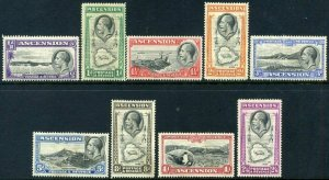 ASCENSION 1934 KGV set to 2/6d SG21 to SG29 Mounted Mint