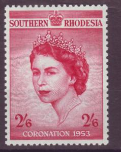 J20944 Jlstamps 1953 south rhodesia set of 1 mlh #80 royality